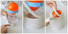 Turn humble cotton rope into a one-of-a-kind pendant lamp with this easy 30-minute tutorial.