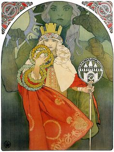 Reprint of a Vintage Art Nouveau poster 6th Sokol by VPCompany
