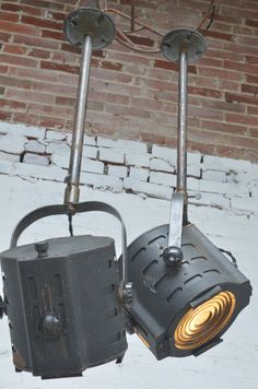Theater room lights Industrial Lighting Pendant Stage Lights by ScovilleBrownCo, $295.00