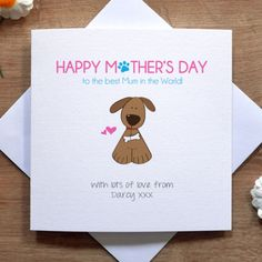 How do I personalise this item? Dog Mothers Day, Mothers Day Cards, Happy Mothers Day, Mother's Day Theme, Happy Mother's Day Card, Watercolor Cards, Dog Mom, Pet Dogs, Greeting Cards