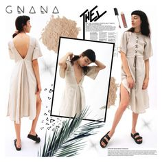 """""""GNANA STUDIO"""" by gaby-mil ❤ liked on Polyvore featuring Nika, Chanel, Eve Lom, dress and gnanastudio"""