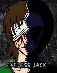 Eyeless Jack. Not my art. Jack Creepypasta, Horror, Eyeless Jack, Ben Drowned, Jeff The Killer, Boy Character, Creepy Things, Scary Stuff, Random Stuff