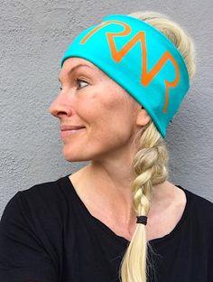 Turquoise & Orange headband / pannebånd / panneband / pannband