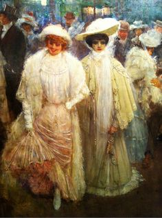 ▴ Artistic Accessories ▴ clothes, jewelry, hats in art - Jean Béraud