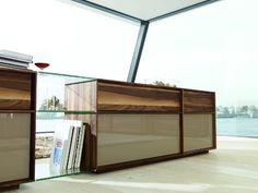 Lux Modern Walnut and Glass Sideboard - modern - buffets and sideboards - london - Wharfside Glass Sideboard, Modern Sideboard, Sideboard Cabinet, Solid Wood Furniture, Dining Furniture, Modern Buffets And Sideboards, Furniture Market, Team 7, Komodo