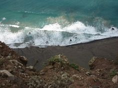 Dramatic view of waves from Famara beach Cliff Top
