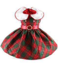 #Christmas Plaid Too Beaded Christmas #Dress