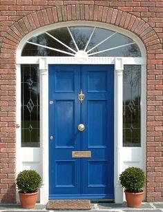 Beautiful Blue Door and entrance screen.