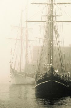 Ship in the mist....