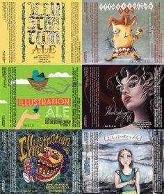 2015 Illustration Ale Label Artists