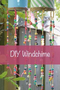 Windchime, DIY and Crafts, DIY windchime - windhanger - windklok. Carillons Diy, Dyi, Diy And Crafts Sewing, Diy Crafts For Kids, Children Crafts, Wind Chimes Kids, Labor Day Crafts, Kids Workshop, Easy Diy Christmas Gifts