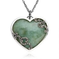 Jade , an ancient gemstone, is a powerful symbol used to attract love.It opens up the heart Chakra to love energy .So,wear your charm as a Green...