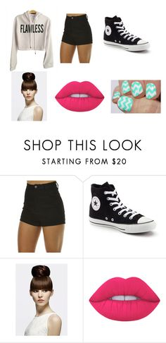 """outfit"" by daniellem618 on Polyvore featuring Wrangler, Converse and Lime Crime"