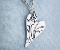 How do I love thee pendant necklace by BlueMuseJewelry, $89.95
