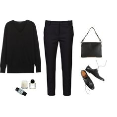 A fashion look from September 2014 featuring The Row sweaters, 3.1 Phillip Lim pants ve Jil Sander shoulder bags. Browse and shop related looks.