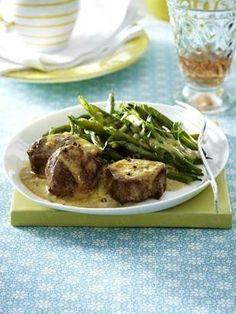 Gratinierte Schweinefilets mit Gorgonzola-Creme