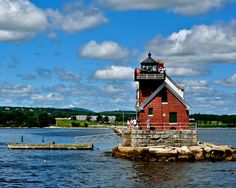 Maine Lighthouses and Beyond: The Rockland Breakwater Lighthouse - July 2013.  To enjoy my blog on lighthouses, flowers, and wildlife, tap on the photo.