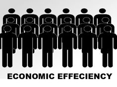 Economic efficiency is the use of resources so as to maximize the production of goods and services.