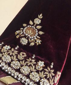 Embroidery Suits Punjabi, Zardosi Embroidery, Embroidery Suits Design, Hand Work Embroidery, Embroidery On Clothes, Couture Embroidery, Embroidery Motifs, Embroidery Fashion, Hand Embroidery Designs