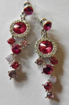 Faux Ruby and Diamond Earrings by veryfrenchbydesign on Etsy, $35.00
