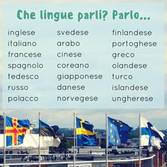 Che lingue parli? Which languages do you speak? Learn Italian | Study Italian | Italian language
