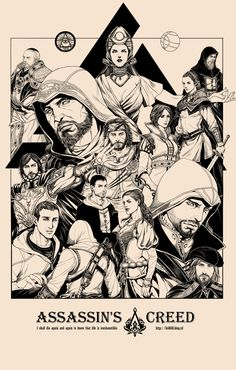 Assassin's Creed. Look! There's Yusuf!...Aw I cried when he died.