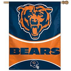 NFL Chicago Bears Vertical Flag 27 x 37InchLarge Black -- Continue to the product at the image link.