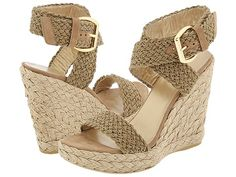 Really into the wedge espadrille look for Spring.