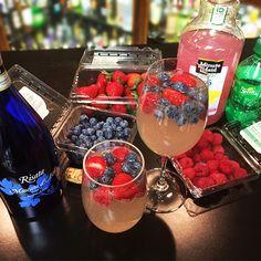 RISATA PUNCH ~ 1 bottle of Risata Moscato d'Asti, 1 bottle of lemonade (your favorite!), 1/2 liter of lemon-lime soda, Fruit (again, your choice!) Mix Risata, lemonade and lemon-lime soda together. Drop in your favorite fruit and enjoy!
