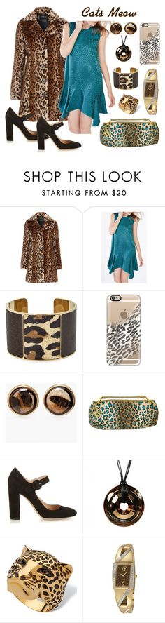 """""""Cat's Meow"""" by judithc-2900 ❤ liked on Polyvore featuring Jane Norman, BCBGMAXAZRIA, Aspinal of London, Casetify, Chico's, Blugirl, Gianvito Rossi, Baccarat, Palm Beach Jewelry and Seiko Watches"""