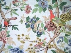 Hydrangea birds - GP Baker Fabric