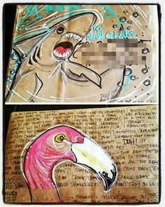 Mail art by Melissa Fetalvero of ATC'S For All.