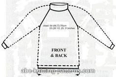 ABC Knitting Patterns - Boys' Top-Down Raglan Sweater with Stripes