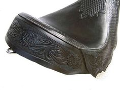 Hand tooled leather motorcycle seat- Roberti Customs