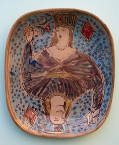I possess a number of pieces by Quentin bell. platters of various shapes and sizes, plates, mugs, bowls and dishes both large and sm. Ceramic Plates, Ceramic Pottery, Pottery Art, Ceramic Art, Vanessa Bell, Bloomsbury Group, Bohemian Decor, Boho, Figure Painting