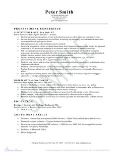 Independent Insurance Agent Resume Sample Resume Samples Across