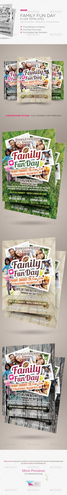 Family Fun Day Flyers are design templates created for sale on Graphic River. More info of the templates and how to get the sourcefiles can be found on this page: http://graphicriver.net/item/family-fun-day-flyers/8775905?r=kinzi21
