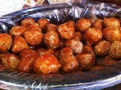 Bourbon Meatballs.  I bet these are good, and they cook in the crockpot.