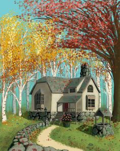 Autumn Cottage by SpecterCody.deviantart.com on @DeviantArt