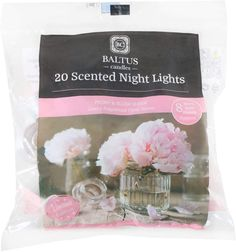 Baltus 20 pack of scented night lights Tea-light candles approx. W4cm x H2cm Peony & blush suede fragrance Limited edition scent for 2020! 8hr burn time per candle. #candles_decoration #candles_crafts #candles_gift #decorating #Christmas_decor #home_smells