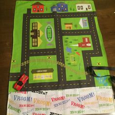 Tiny Town Car Play Mat On the Go Car Roll Up by Elleven20Seven