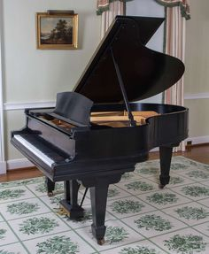 """Ebonized Steinway and Sons """"Model A"""" Grand Piano 