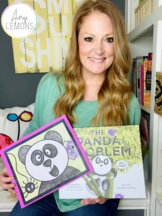 Amy Lemons reads The Panda Problem and directs a panda drawing activity!