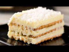 Nepečený dort - tenhle neobyčejný dezert připravíte za pouhých 20 minut!  Chutný TV - YouTube Bon Ap, Sweet Cakes, Chocolate, Biscuits, Vanilla Cake, Family Meals, Cheesecake, Recipes, Homemade Muffins