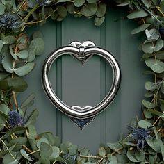 Heart Door Knocker in Nickel