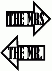 mr. & mrs. word arrow studio cut files by Sarah Hurley- would be so cute on t-shirts for Newlyweds!