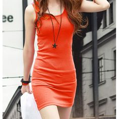Item: Sweet Girls Summer Sexy Sleeveless Cotton Blends Mini Dress Womens Casual Candy Colors Sundress. Color: Orange. Item included: 1 x Sexy Mini Dress. Material: Cotton Blends. | eBay!