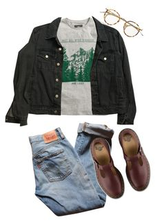 """Untitled #218"" by tater-titties on Polyvore featuring H&M, American Apparel, Levi's and Dr. Martens"