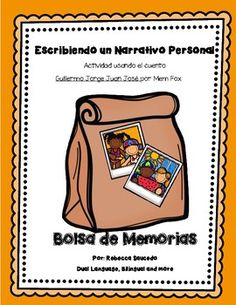 Enhance your students' writing by using personal life experiences. Make writing personal narrative enjoyable by using this packet.  It will help guide students as they write a personal narrative. This packet provides lesson plans, anchor chart ideas, activities and worksheets  to use with the adorable story by Mem Fox, Guillermo Jorge Manuel Jose.