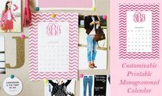 Cute calendar. With a monogram. Love this